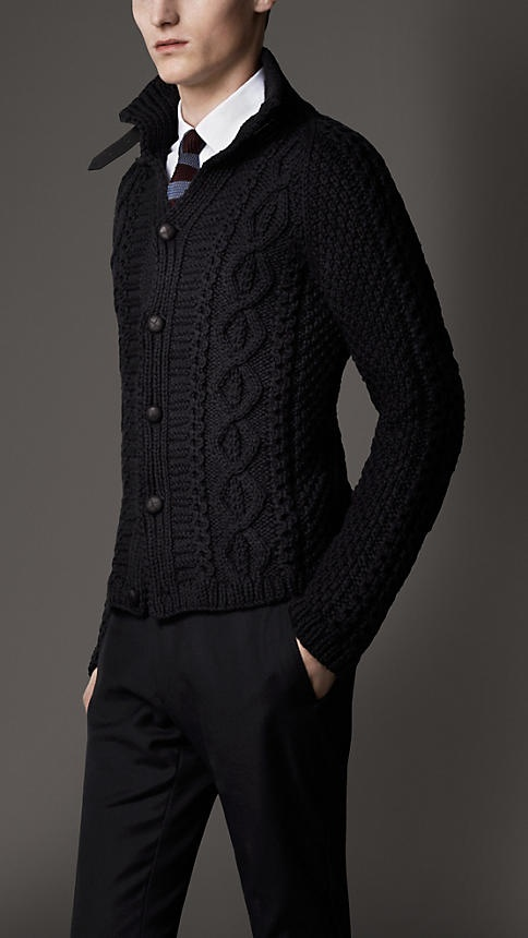Aran Knit Cardigan | Burberry