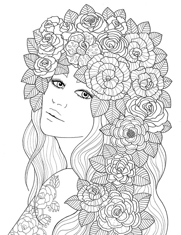 """""""pour voir la vie en rose"""" coloring book agenda 2016 on Wacom Gallery"""
