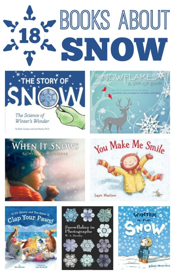 18 Books About Snow for Kids~Includes fiction and nonfiction books!