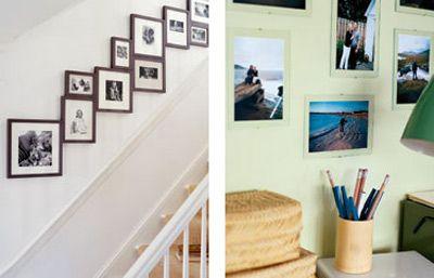 How to hang family photos artfully.