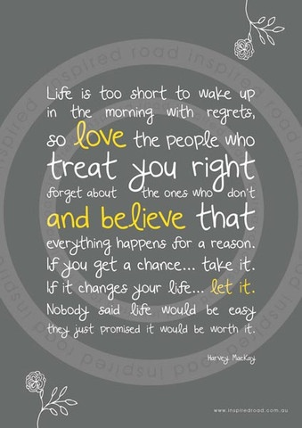 Inspirational quotes to live by  'life is' poster by www.inspiredroad.com