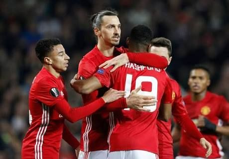 By AFP  Zlatan Ibrahimovic resumed his torment of Saint-Etienne with a hat-trick as Manchester United claimed a 3-0 victory in their Europa League last 32 first-leg encounter on Thursday.