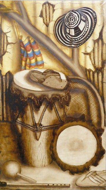 bodegon+costeño++oleo,+instrumentos+musicales+acordeon+sombrero.jpg (359×640)