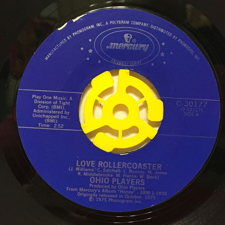 """Ohio Players Love Rollercoaster Who'd She Coo? 7"""" Vinyl 45 rpm Record 1976"""