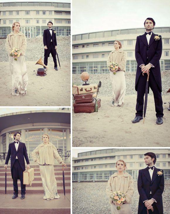Vintage suits for the Groom from @Tweedmans