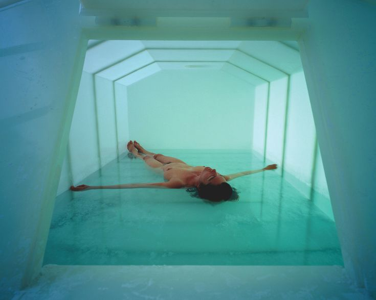 """Carsten Höller, 'Psycho Tank' 1999  """"After climbing a salted staircase you have to manoeuvre your naked body through a small hatch. Once inside, the saline water makes you float. Not only do you have a sensation of weightlessness; the temperature of the air and water also exactly matches that of your skin, meaning you feel next to nothing. Your body becomes the image."""""""