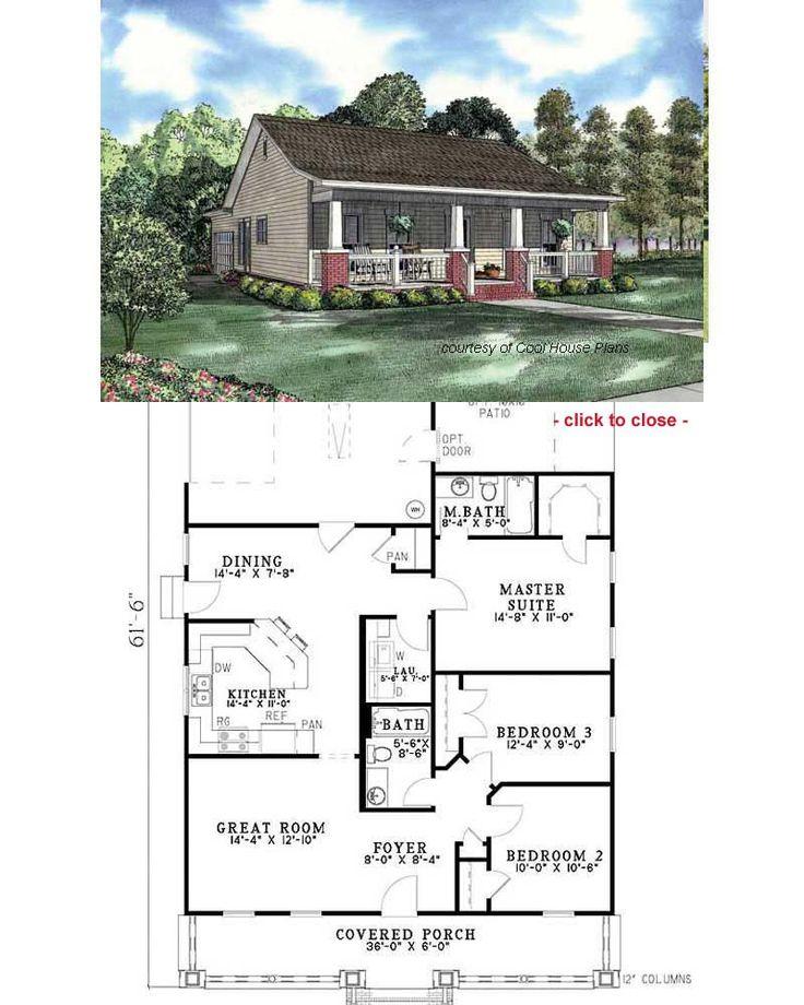 Best 25 Bungalow Floor Plans Ideas On Pinterest Cottage