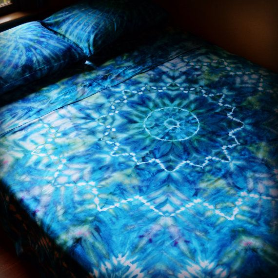 Caribbean Dream  Hand Dyed King Sheet Set by wildflowerdyes.com, $155.00
