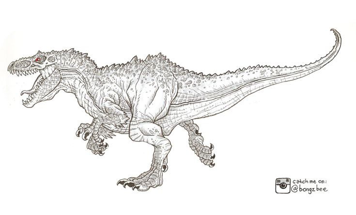 indominous rex dinosaur - free coloring pages