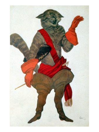 Puss in boots, Leon Bakst