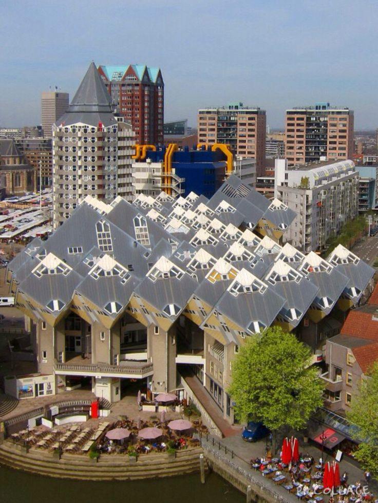 kubus woningen in Rotterdam Blaak, The Netherlands