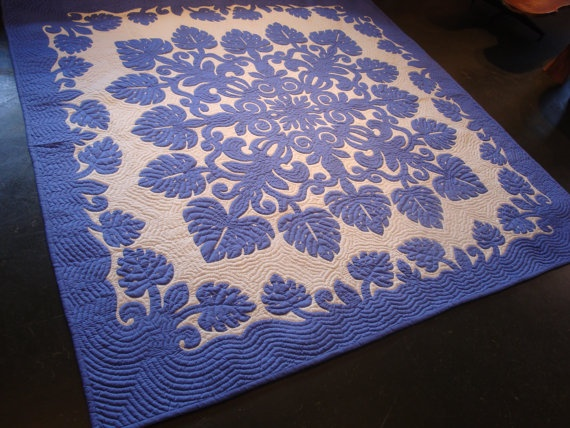 some day I'll be able to spend $1,800 on a traditional hawaiian quilt