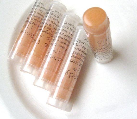 Rose Vanilla Lip Balm Gift for her VEGAN lip balm sugar by soap. $4.50, via Etsy.