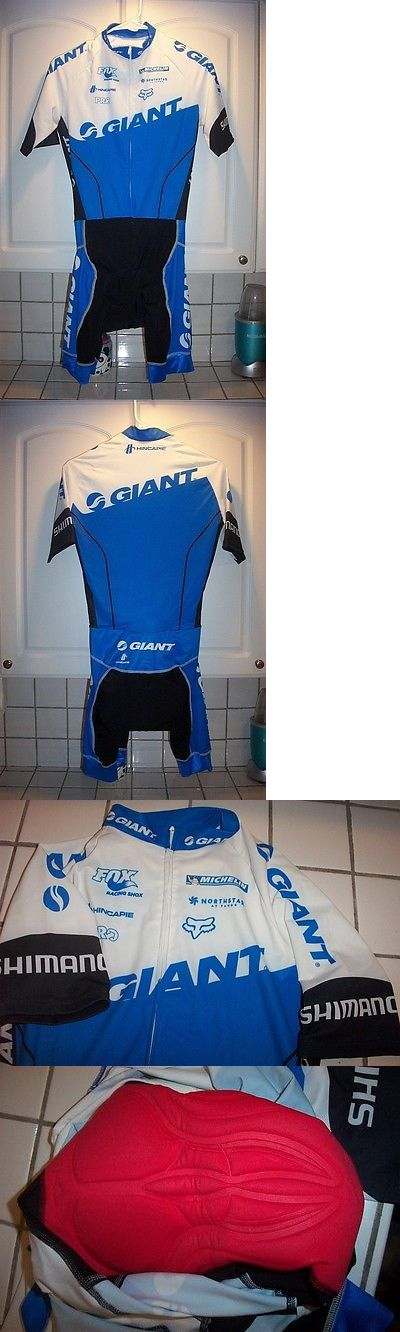 Other Cycling Clothing 177857: New Hincapie Pro Giant Bikes Shimano Cycling Bibs Skinsuit Mens Medium BUY IT NOW ONLY: $54.95