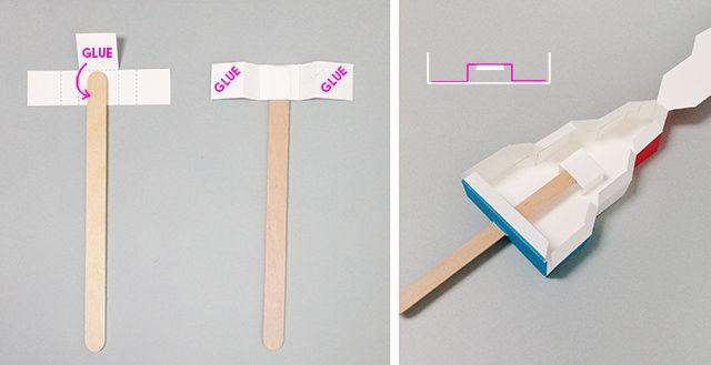 Kağıt Dondurma Şablonlar - Bay Yazdırılabilir