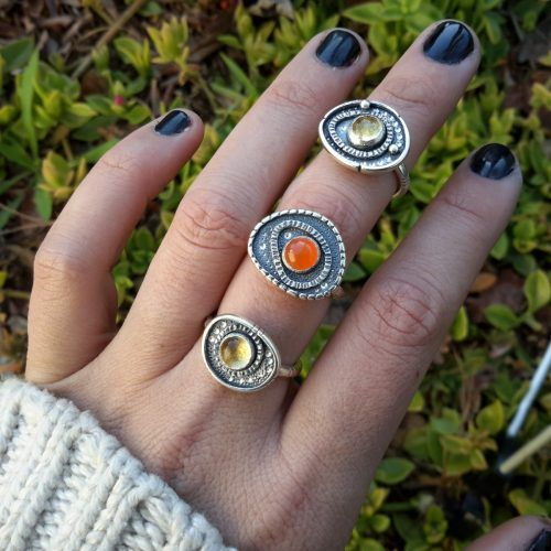 Midi Evil Eye Talisman Ring. Handmade Sterling Silver. Indigenous Jewels. Made to Order. Awake Collection Vol. 1