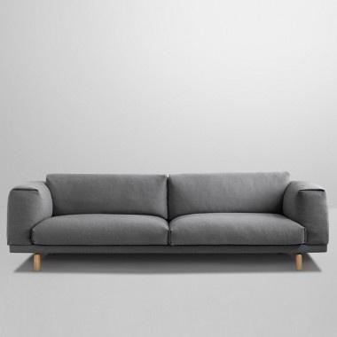 Rest Sofa shown in Hallingdal 153 Textile