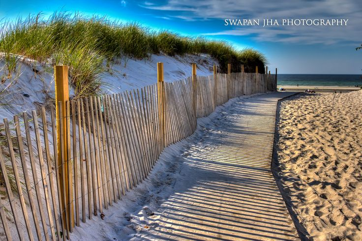 Sand dunes along a boardwalk at Mayflower Beach in Dennis. Swapan Jha…