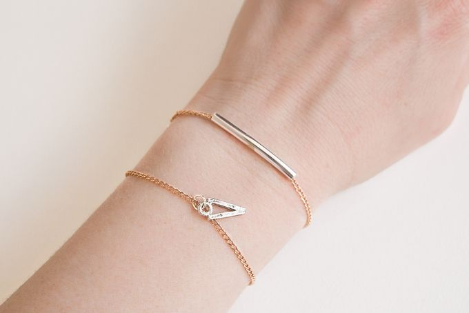 Rose Gold Noodle Bracelet. Free shipping. by Haute and Tidy for sale on http://hellopretty.co.za