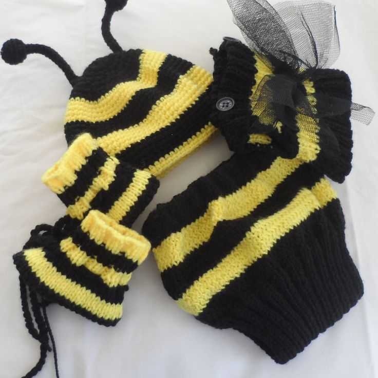 Bee outfit, bumble bee costume, baby toddler, fancy dress, original, halloween, theme outfit, baby, toddler, handknit, photo prop, theme, by ThemeCostumesUK on Etsy https://www.etsy.com/listing/182132072/bee-outfit-bumble-bee-costume-baby