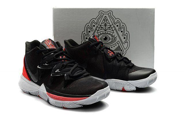 kyrie 5 red black