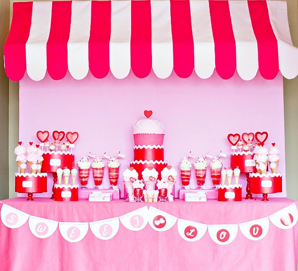 Retro Sweet Shoppe Valentine's Day Party // Hostess with the Mostess®
