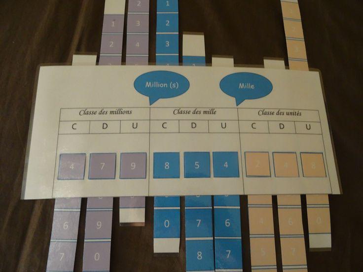 Tableau de numération à manipuler - Chez Val 10