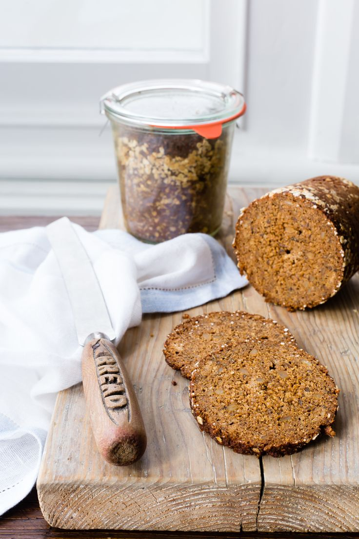 Pumpernickel is prepared by baking on a low temperature in a preserving jar to almost create a steamy atmosphere and prevent it from drying out.