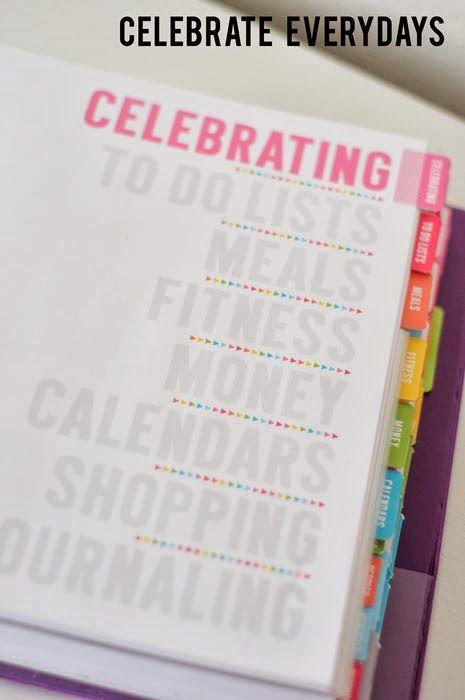 Celebrate Everydays: Household Notebook Revamp