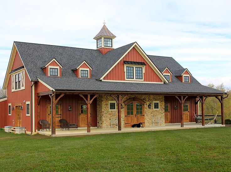 Stately timberframe farmhouse in jarrettsville md by b d for Log barn homes