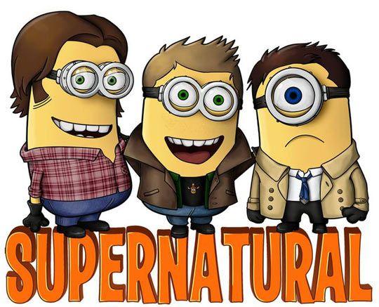 I NEED A T-SHIRT LIKE THIS........!!!!!!!!!!!!  #Supernatural #Minions