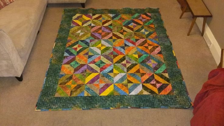 Completed jelly roll quilt