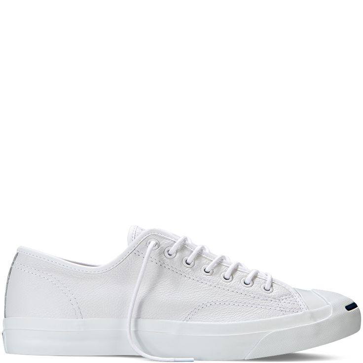 Jack Purcell Tumbled Leather - White - Low Top