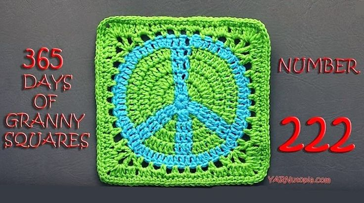 HOORAY!  The fabulous Nadia Fuad of YARNutopia has graciously and excellently produced a video tutorial for my Peace Sign Granny Square . ...