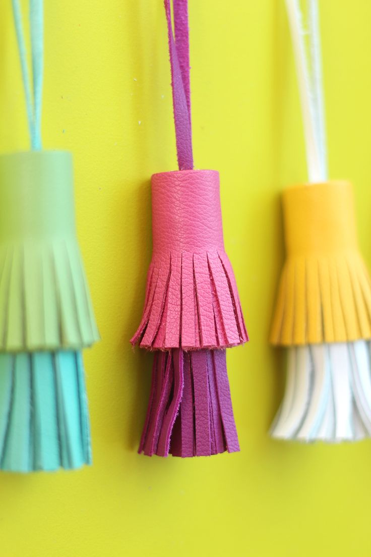 DIY: two-toned leather tassels