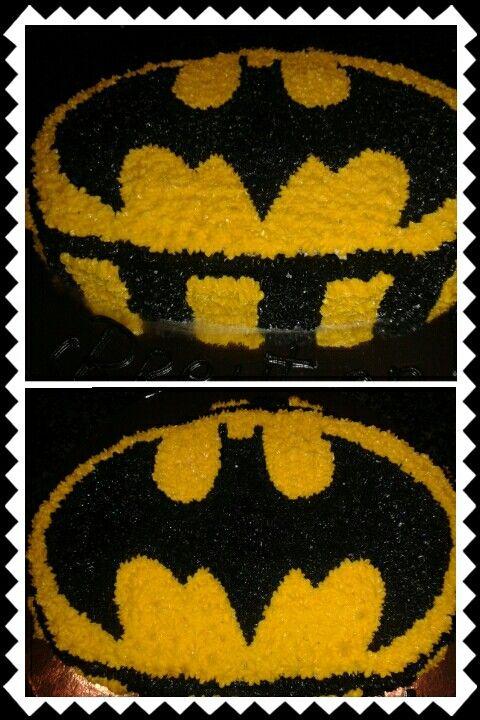 Batman buttercream vanilla cake