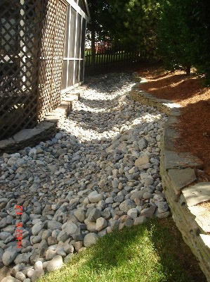 Stream Bed Stabilization in the Washington DC area | Drainage and Erosion Solutions
