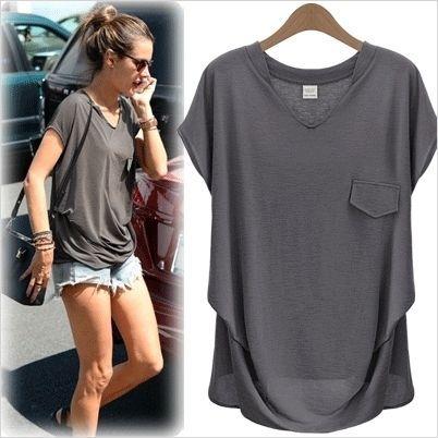 Tシャツ・カットソー 【5色】人気商品★VネックポケットルーズフィットTシャツdnb81(2)