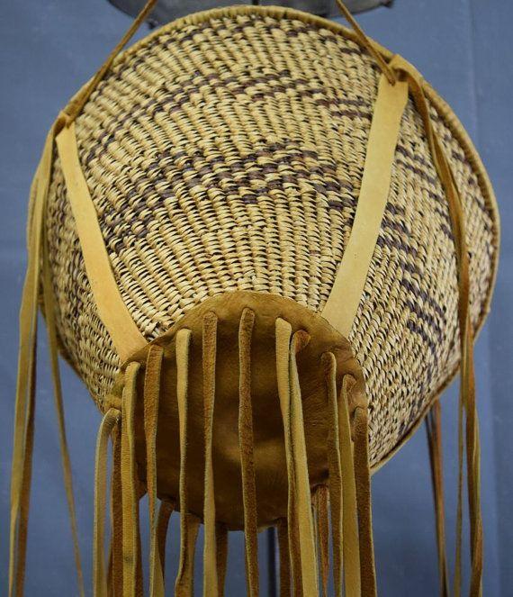 Native American Basket, Apache Burden Basket, Ca 1970's, #907