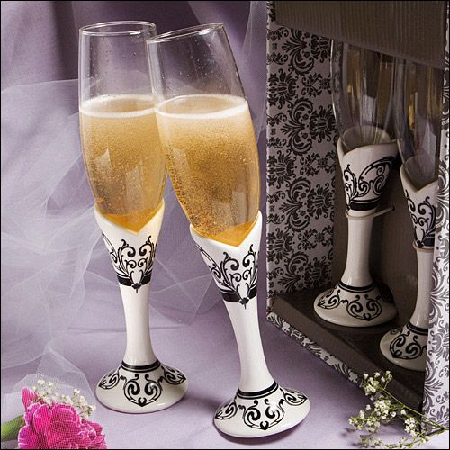 115 Best Wedding Accessories Toasting Flutes Images On Pinterest