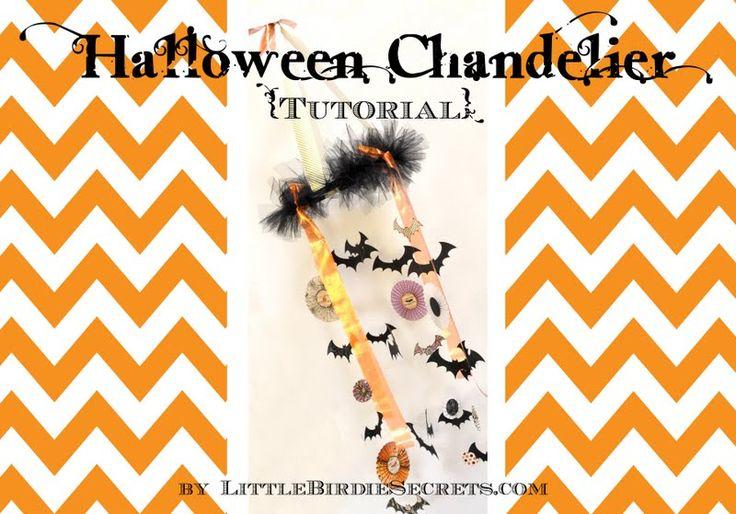 eighteen25:  Little Birdie Secrets' Halloween Chandelier