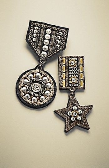 Cara 'Special Military' Embellished Pin | Nordstrom