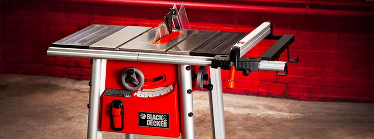 Black and decker 10 table saw rugged design pinterest for Table cuisine 75 x 75