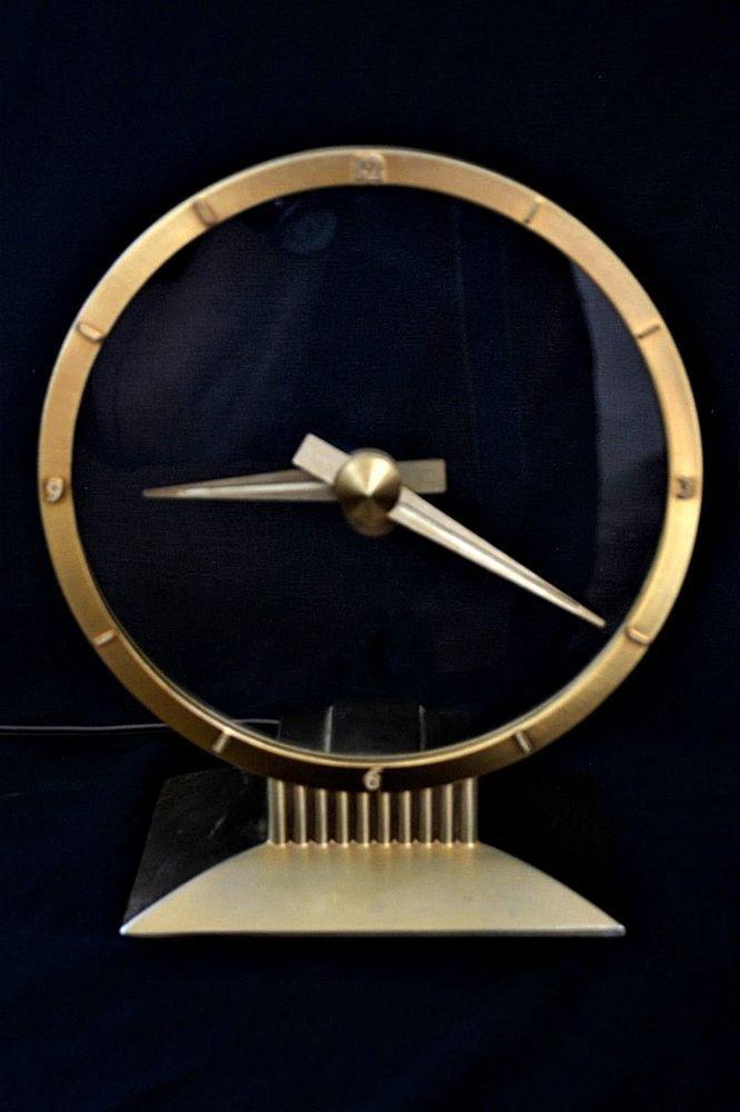 MID-CENTURY ART DECO JEFFERSON GOLDEN HOUR ELECTRIC CLOCK