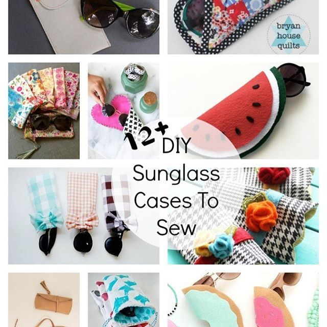 It is absolutely gorgeous here today. Time to get out the Sunnies! Need a case? My favorite 12 DIY sunglasses cases are #ontheblog #diysunglasscase #diy #sew