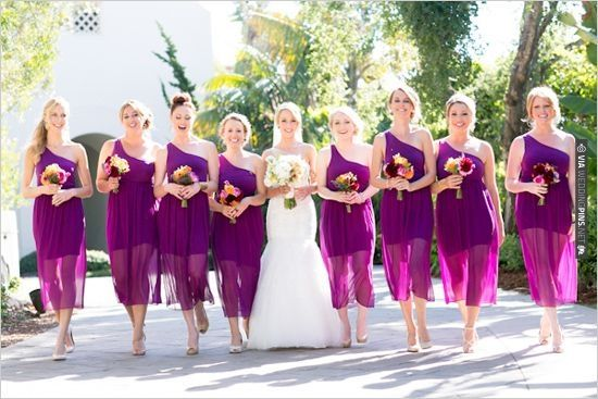 bright purple bridesmaid dresses | CHECK OUT MORE IDEAS AT WEDDINGPINS.NET | #bridesmaids