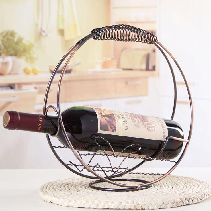 Fashion Red Wine Bottle Rack Iron Decoration Rack Wine Bottle Holders Botellero Vino Classic Style Bottle Holders
