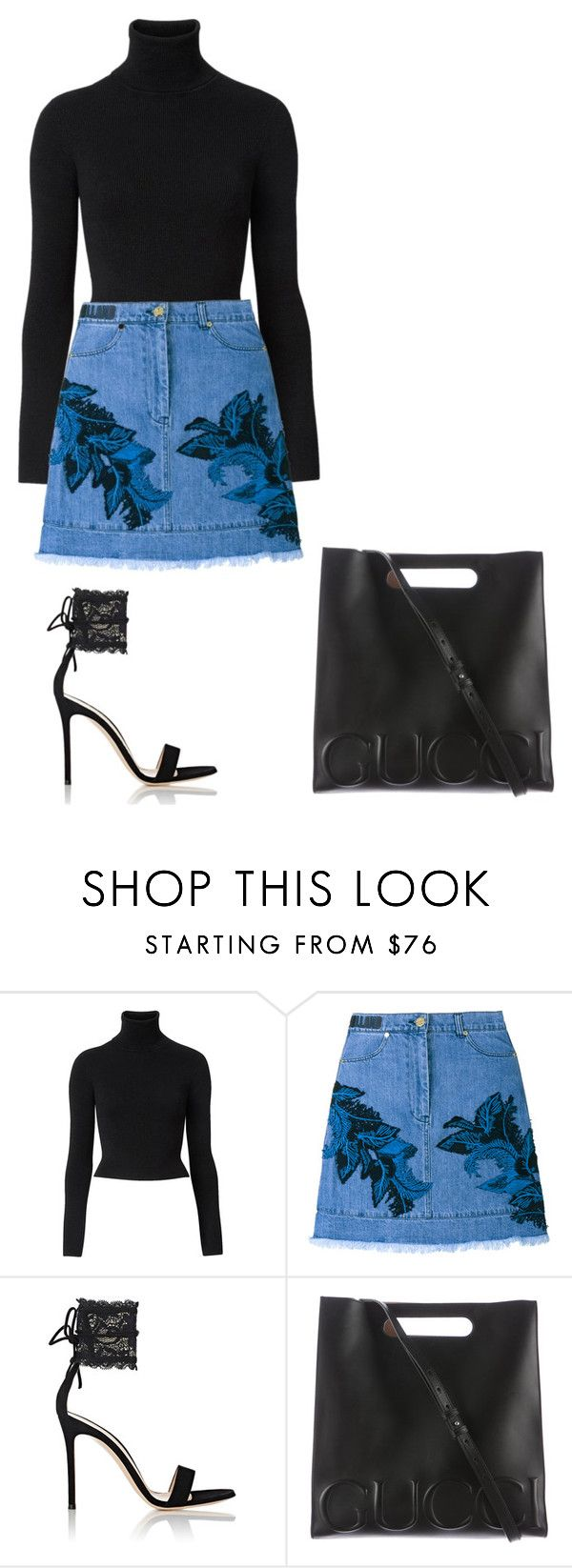 """Untitled #603"" by luxeyfaux ❤ liked on Polyvore featuring Witchery, House of Holland, Gianvito Rossi and Gucci"