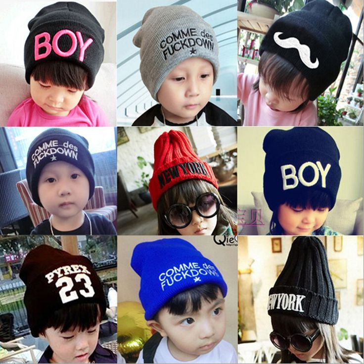 Fashion Baby Winter Cartoon Hat Girl Boy Wool Children Hats infant Cotton Cute Letter Beanie Caps Hign Quality BMZ07