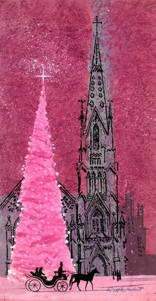 Vintage Ralph Hulett Christmas card
